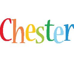 Chester birthday logo