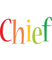 Chief birthday logo
