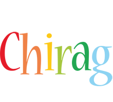 Chirag birthday logo