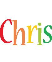Chris birthday logo