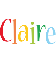 Claire birthday logo