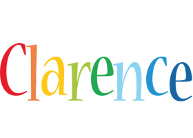 Clarence birthday logo
