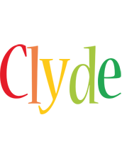 Clyde birthday logo