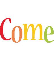 Come birthday logo