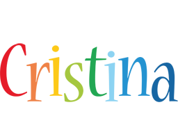 Cristina birthday logo