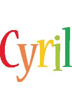 Cyril birthday logo