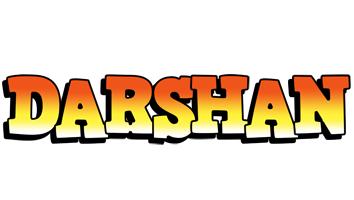 darshan logo name logo generator sunset candy brown