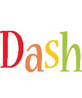 Dash birthday logo