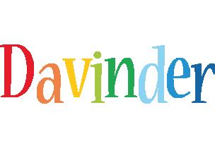 Davinder birthday logo
