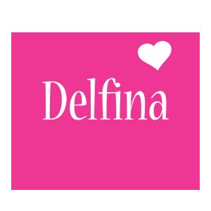 Delfina Logo   Name Logo Generator - I Love, Love Heart ...