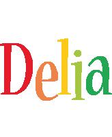 Delia birthday logo