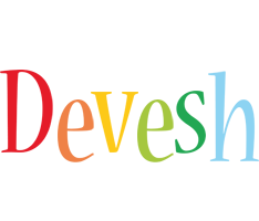 Devesh birthday logo