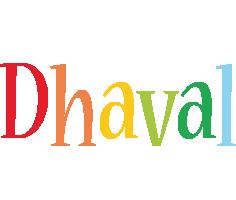 Dhaval birthday logo