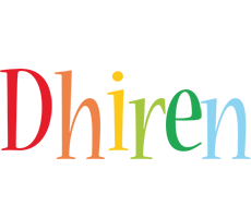 Dhiren birthday logo