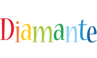 Diamante birthday logo