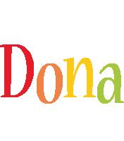 Dona birthday logo