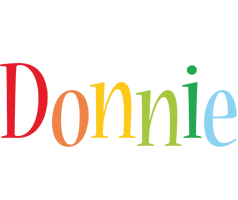 Donnie birthday logo