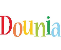 Dounia birthday logo