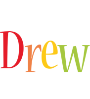 Drew birthday logo