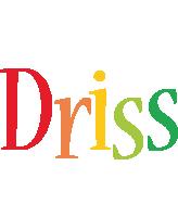 Driss birthday logo