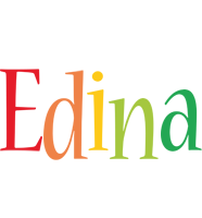Edina birthday logo