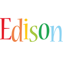 Edison birthday logo