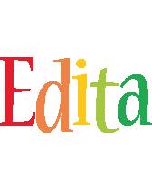 Edita birthday logo