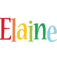 Elaine birthday logo