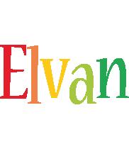 Elvan birthday logo