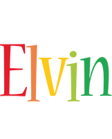 Elvin birthday logo