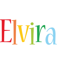Elvira birthday logo