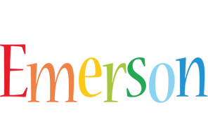 Emerson birthday logo
