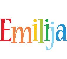 Emilija birthday logo