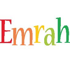 Emrah birthday logo