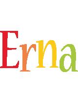 Erna birthday logo