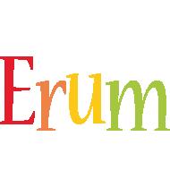 Erum birthday logo
