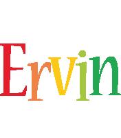 Ervin birthday logo