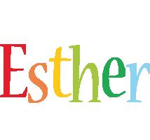 Esther birthday logo