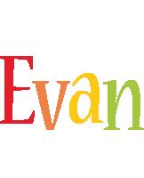 Evan birthday logo