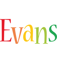 Evans birthday logo