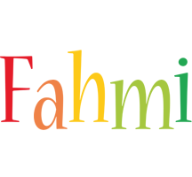 Fahmi birthday logo
