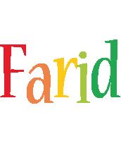 Farid birthday logo