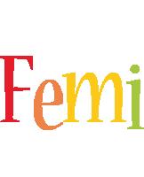 Femi birthday logo