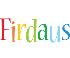 Firdaus birthday logo
