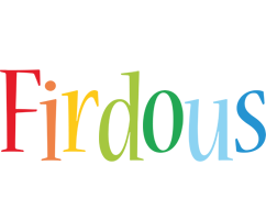 Firdous birthday logo