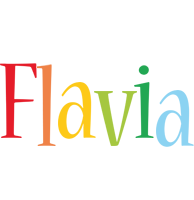 Flavia birthday logo