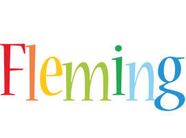 Fleming birthday logo