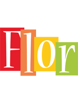Flor colors logo