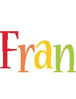 Fran birthday logo