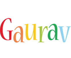 Gaurav birthday logo